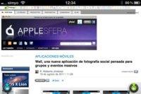 360 Web Browser, navegando a pantalla completa en iOS con todas las opciones cerca