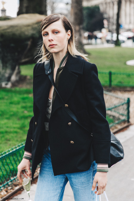 Pfw Paris Fashion Week Fall 2016 Street Style Collage Vintage Edie Campbell 1