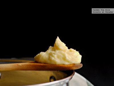 Puré de patatas cremoso. Receta de guarnición