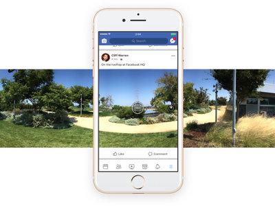 Facebook ya permite tomar fotos en 360 grados directamente desde su aplicación
