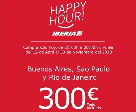 Iberia lanza una oferta especial para volar a Buenos Aires, Río de Janeiro o Sao Paulo