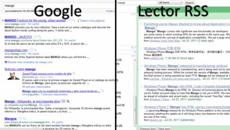 Búsqueda en Google vs Lector RSS