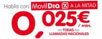 Un mes de llamadas a mitad de precio con MóvilDía por cinco euros