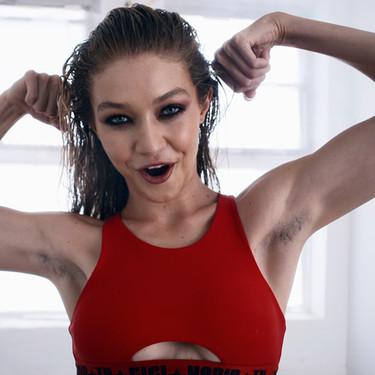Gigi Hadid al natural: parece que la modelo ha pasado de depilarse en su último shooting de moda