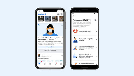 Facebook está lanzando una nueva sección para desmentir bulos sobre el coronavirus y recomendar buenas prácticas