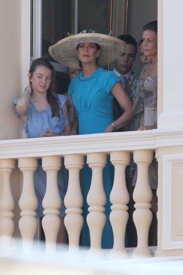Boda Real en Mónaco: el look de SAR la Princesa Carolina de Hanover con sombrero en la boda civil de su hermano