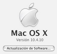 Mac OS X 10.4.10 en camino