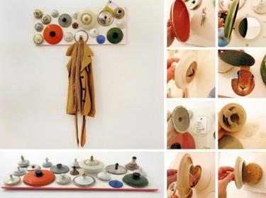 Recicladecoración: un colgador hecho con tapas