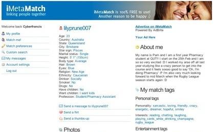 iMetaMatch, sencilla red de contactos entre usuarios