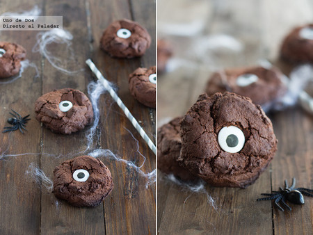 Galletas ojo de monstruo, receta de Halloween