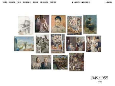 Obras de Antonio López de 1949 a 1955