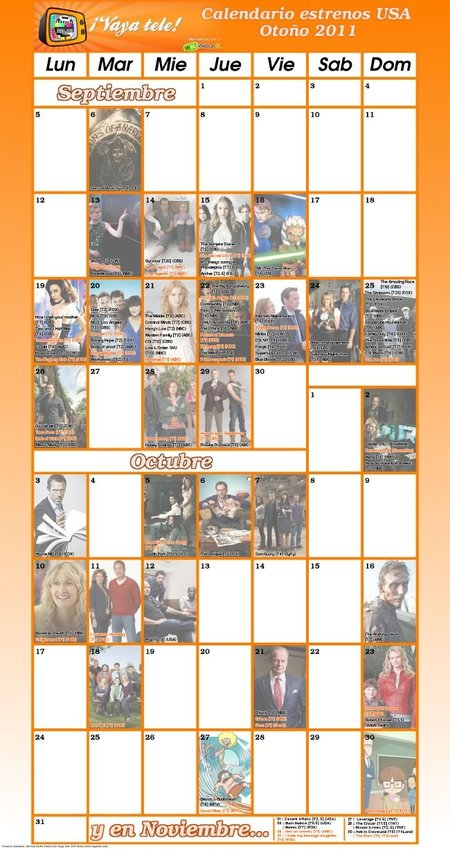 Calendario Otoño 2011