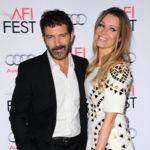 Un barbudo Antonio Banderas acompañado por su inseparable Nicole Kimpel en la Gala del Screening AFI Fest