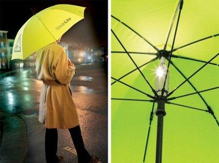 Lighted Safety Umbrella, paraguas con luz incorporada