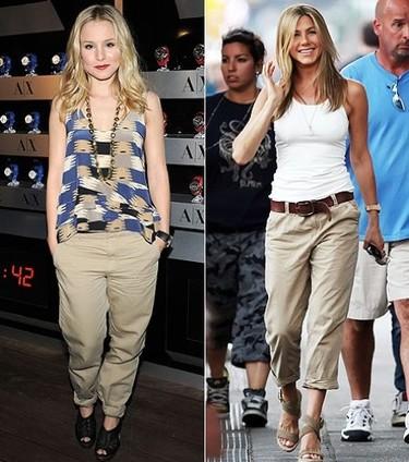 Pantalones pirata con vuelta por Kristen Bell y Jennifer Anniston
