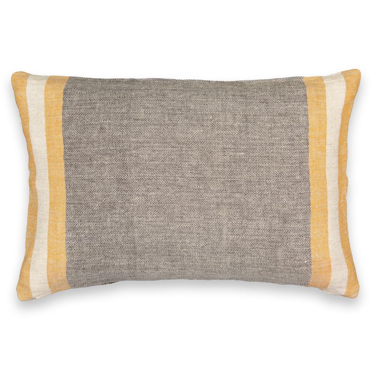 Funda de cojín de lino chambray Napaya