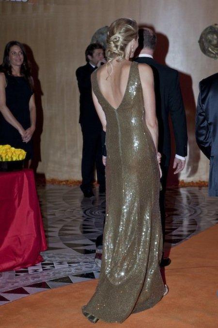 Charlene Wittstock espalda