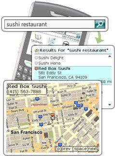 Live Search para usar en dispositivos Blackberry con GPS
