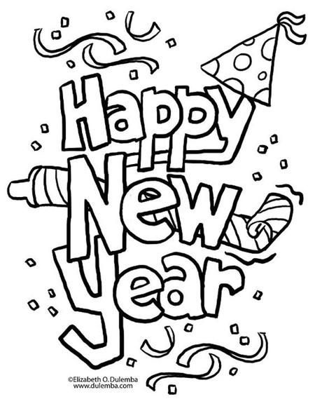 Ano Nuevo 12colorear
