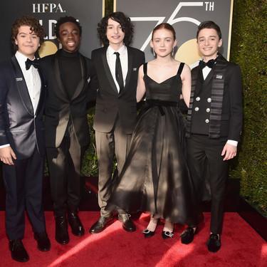Los chicos de Stranger Things vuelven a convertirse en íconos para los Golden Globes 2018