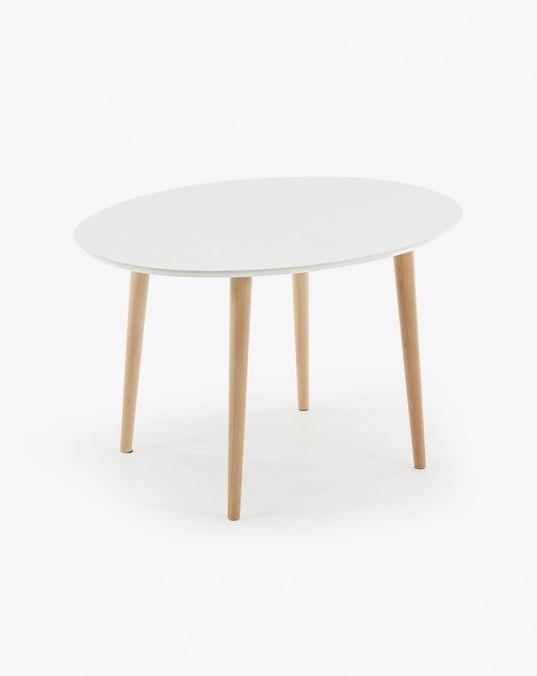 Mesa extensible Oqui 120 (200) x 90 cm blanco