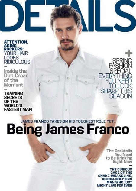 James Franco en Details: hasta vestido de lechero estás buenorro