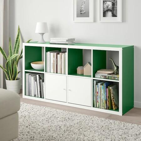 Kallax Estanteria Blanco Verde 0834002 Pe778163 S5