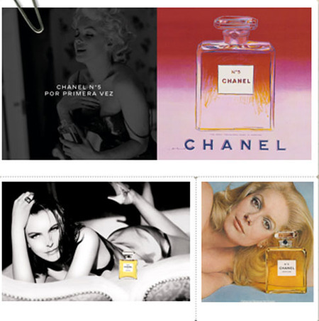 Historico publicidades Chanel No. 5