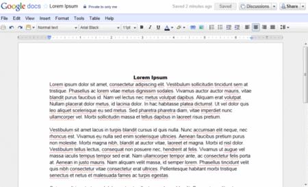 Google Docs Lorem Ipsum