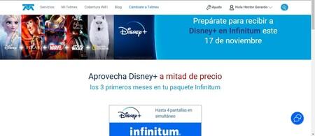 Telmex Tres Meses Disney Plus