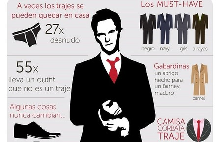 El legendario estilo de Barney Stinson, infografía