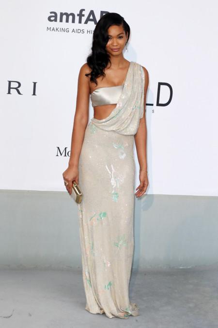 Chanel Iman amfar Cannes 2014