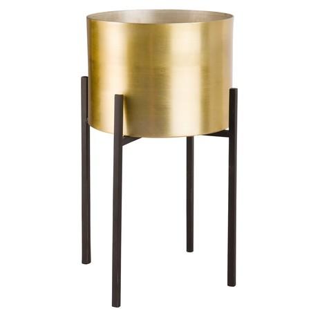 Maisons Du Monde 174610 Macetero Con Soporte De 4 Puntos De Metal Dorado 39 99 Euros