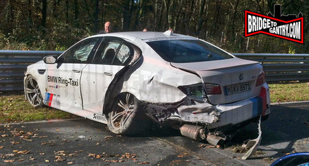 BMW M5 Ring Taxi accidente Nürburgring