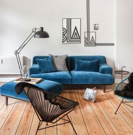 Blue velvet lo mejor para el sof - El mejor sofa ...