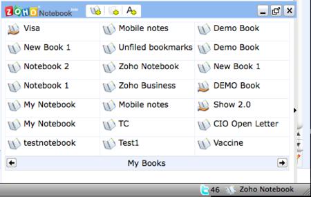 Zoho Notebook, sustituye a Google Notebook