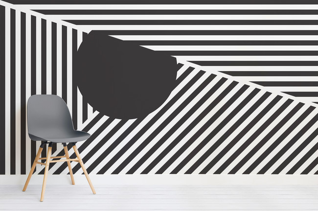 Sperry Dissect Black And White Mural Chair