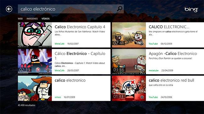 Bing vídeos