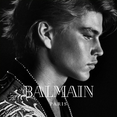 Jordan Barrett Balmain 2016 Fall Winter Campaign