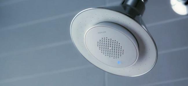Sonido De Regadera De Baño:Moxie, la ducha con altavoz inalámbrico magnético y portátil