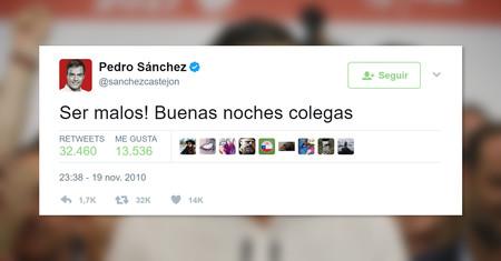 Hay un tuit del Pedro Sánchez pre-presidente para cada situación de la vida