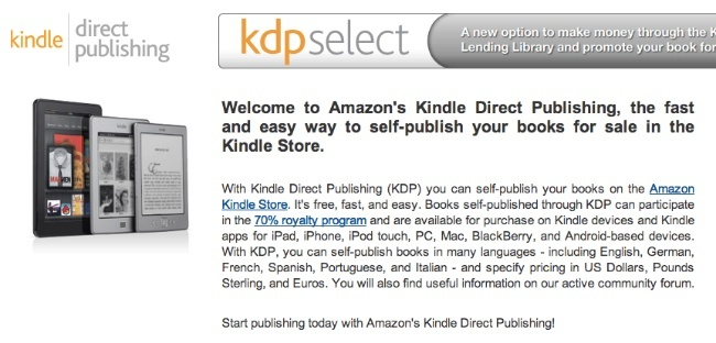 amazon kindle direct publishing kdp