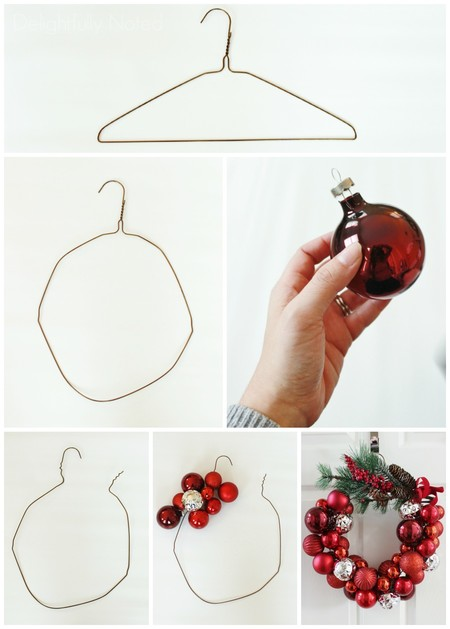 Ornament Wreath Collage