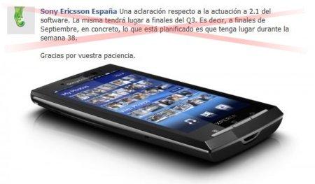 Las actualizaciones de los Xperia de Sony Ericsson se retrasan a octubre