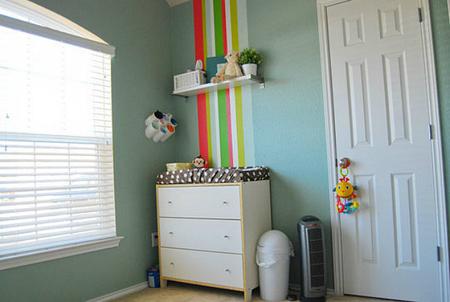 Cambiador de una habitación de bebé
