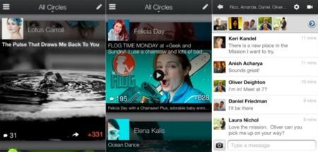 Google+ se actualiza en Android y iOS: ahora con Hangouts en directo y más cambios