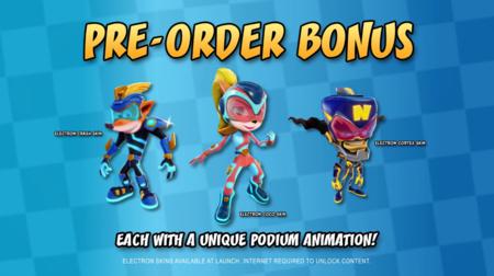 Así lucen los personajes de Crash Team Racing Nitro-Fueled con estas skins futuristas por la reserva del juego