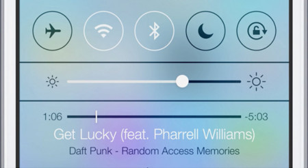 Centro de Control de iOS 7