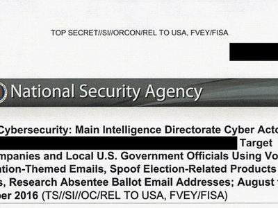 Rusia intentó hackear a una empresa y a funcionarios involucrados en las elecciones de EEUU, según una filtración de la NSA