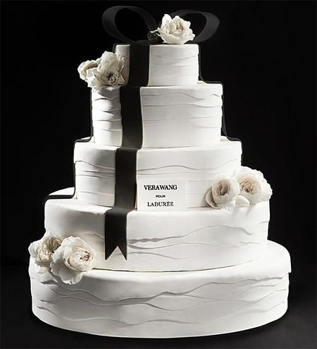 Comida de EsCultura: Pasteles de boda inspirados en vestidos de Vera Wang
